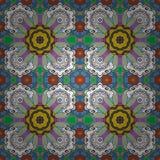 Colour Spring Theme seamless pattern Background stock illustration