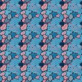 Abstract colored picture. Our love is magic. Vector illustration. Seamless pattern with hearts. Cartoon hearts love on blue, neutral and black colors on cute royalty free illustration