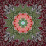 Colour Spring Theme seamless pattern Background royalty free illustration