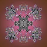 Abstract colored picture. Traditional classic ornament. Vintage pattern with arabesques. Oriental vector pattern with arabesques and floral elements royalty free illustration