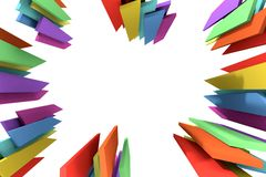 Abstract colored pieces on a white background. Stock Photos