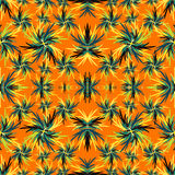 Abstract colored plant on an orange background vector illustration Stock Image