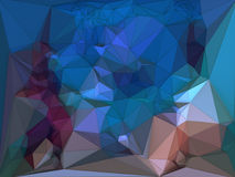 Abstract colored polygonal triangular mosaic background. 3d rendering Royalty Free Stock Photography