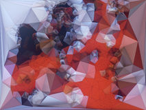 Abstract colored polygonal triangular mosaic background. 3d rendering Stock Photo