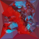 Abstract colored polygonal triangular mosaic background. 3d rendering Stock Images