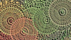 Abstract colored psychedelic background with texture of floral stickers openwork patterns of mandala on a textured canvas royalty free illustration