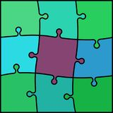 Abstract colored puzzle background Royalty Free Stock Photos