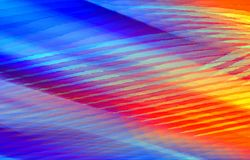 Abstract colored red and blue background of stripes and spots. Vector. Blurred background. Illustration and decoration. Red, blue and yellow colors on a picture royalty free illustration