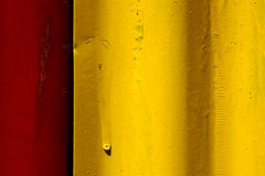 Abstract colored red and yellow iron metal sheet Stock Photo