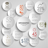 Abstract colored round infographic template Royalty Free Stock Photos