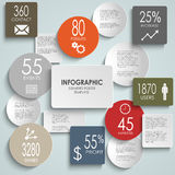 Abstract colored round rectangle info graphic temp