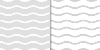Abstract colored seamless pattern. Background with gray wave lines Royalty Free Stock Photo