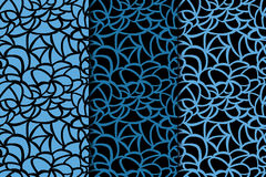 Abstract colored seamless pattern. Black and blue fabric print Royalty Free Stock Photo