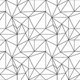 Abstract colored seamless pattern. Black and white polygonal wallpaper Stock Photos