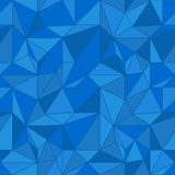 Abstract colored seamless pattern. Blue polygonal wallpaper Royalty Free Stock Image