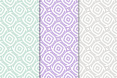 Abstract colored seamless pattern. Collection of colored wallpapers Stock Photos