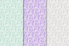 Abstract colored seamless pattern. Collection of colored wallpapers Stock Image