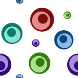 Abstract colored seamless pattern. Colored circles Royalty Free Stock Photo