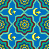 Abstract colored seamless pattern in Oriental style.  Royalty Free Stock Images