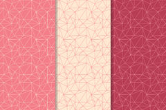 Abstract colored seamless pattern. Red polygonal collection Stock Photography
