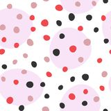 Abstract colored seamless pattern with round elements. Drawn by hand. Endless vector illustration vector illustration