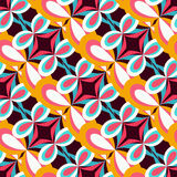 Abstract colored seamless pattern for your design. Vector illustration abstract high quality Royalty Free Stock Images