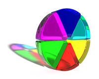 Abstract colored shape Royalty Free Stock Photo