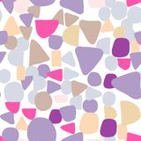 Abstract colored shapes seamless pattern. Simple design texture stock image