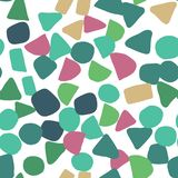 Abstract colored shapes seamless pattern. Simple design texture royalty free stock photos