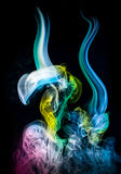Abstract colored smoke Stock Images