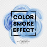 Abstract colored smoke effect background design. Vector illustration Royalty Free Stock Images