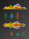 Abstract colored sound wave vector design elements Royalty Free Stock Photos