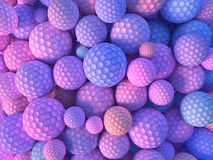 Abstract colored spheres 3d rendering. Abstract colored spheres scattered on surface 3d rendering Stock Photos