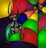 Abstract colored spider Royalty Free Stock Photos