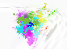 Abstract colored splotches stock illustration