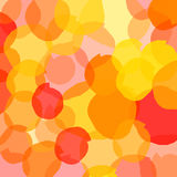 Abstract colored spots. With a yellow fill and red colors on a bright background, overlap Stock Photo