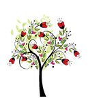 Abstract colored spring tree vector illutration Stock Photo
