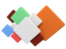 Abstract colored square 3d background. Royalty Free Stock Image