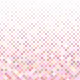 Abstract colored square pattern background - geometrical vector design from diagonal squares in pink tones Royalty Free Stock Photos