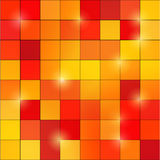 Abstract colored square pixel mosaic background Stock Photo