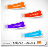 The abstract colored sticker set Royalty Free Stock Photos