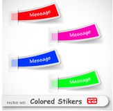 The abstract colored sticker set Stock Photos