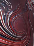 Interlacing abstract blue and red curves. 3D rendering Stock Photo