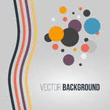 Abstract colored striped waves and circles on the light background. Vector. Illustration Stock Illustration