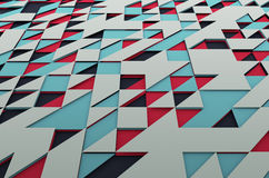 Abstract Colored Surface with Triangles Royalty Free Stock Image