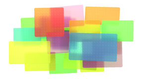 Abstract colored translucent rectangles Stock Photography