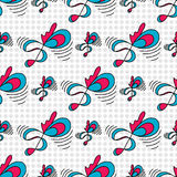Abstract colored treble clef on a bright geometric background seamless pattern vector illustration Stock Images
