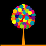 Abstract colored tree over black background Royalty Free Stock Photography