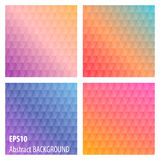 Abstract colored  triangles backgrounds. Set abstract colored  triangles backgrounds Royalty Free Stock Photo