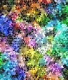 Abstract colored triangular mosaic background Stock Photography